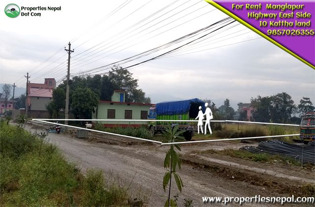 Featured10 Kattha Land Touched With Highway Is For Rent In Manglapur